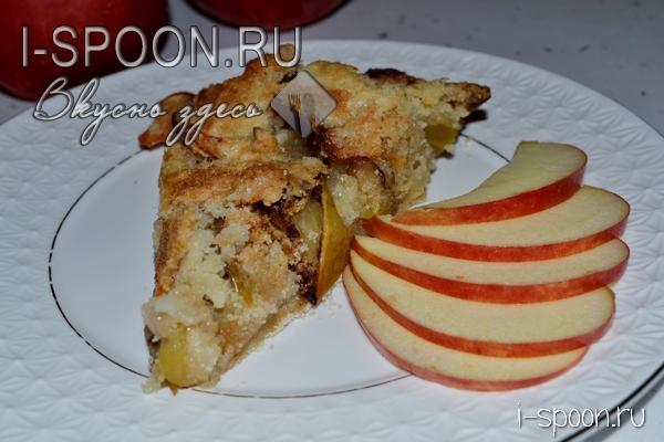 насыпной яблочный пирог рецепт