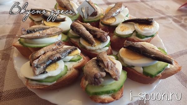 бутерброды с марин.огурцами рецепты