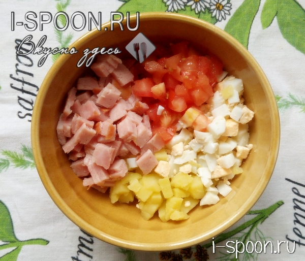 салат с ветчиной и картошкой пошаговый рецепт