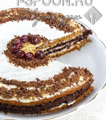 торт с вишней исметанным кремом
