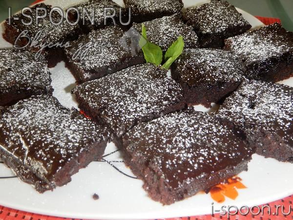 Шоколадное пирожное на скорую руку