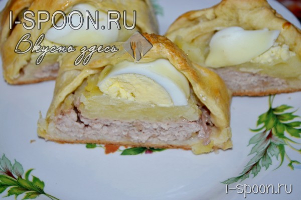 Рецепт мясного рулета из фарша с яйцом